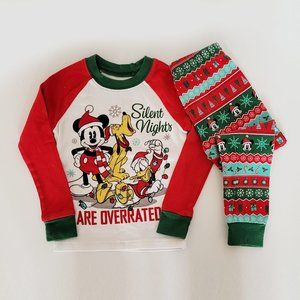 🍉3/$15 🍉 Disney Mickey Mouse Christmas Pyjama Set - 4T